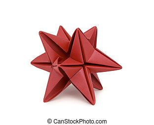 Red Origami Star