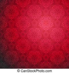 Red Ornamental seamless pattern.