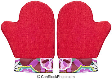 Red Oven Mits