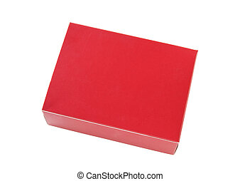 red package box isolated on white with clipping path