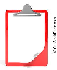 Red pad holder.