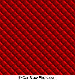 Red Padden Upholstery Pattern