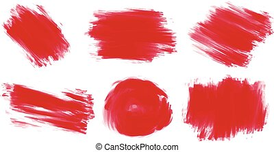 Red paint - Six styles of painting in red