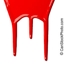 red paint leaking art