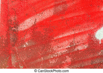 Red paint on the wall