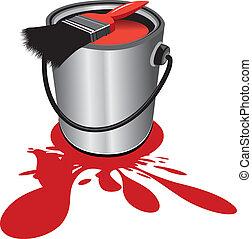 paint pot - red paint pot