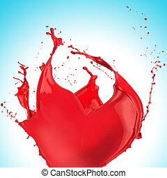 Red paint splash