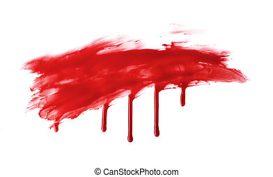 Red paint stain