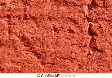 Red painted brick wall, excellent background
