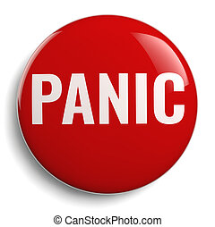 Red Panic Button Isolated on White
