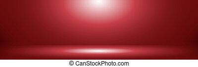 Red panoramic studio background with white glow