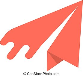 red paper airplane icon