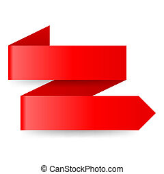 Red paper arrow