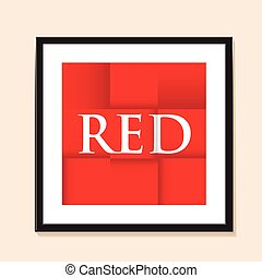 red paper folded background
