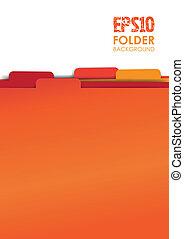 red paper folder files