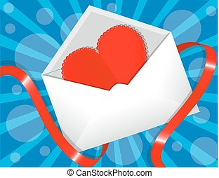 heart in the envelope