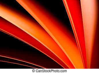 Red paper in black background VII