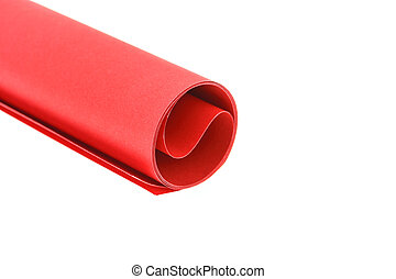 Red paper roll