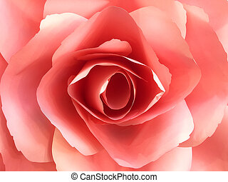 Red Paper Rose for Valentine's Day