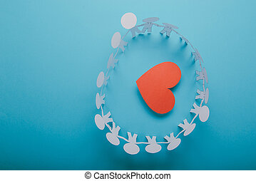 Red paper Valentines Day heart