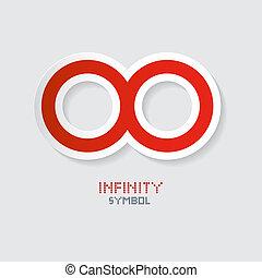 Red Paper Vector Infinity Symbol
