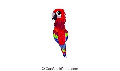 Red parrot icon animation