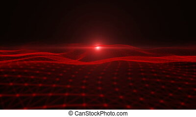particle - Red particle dimension space background