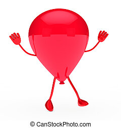 red party balloon wave