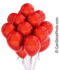 Red party ballooons