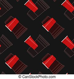 red party cups seamless vector pattern