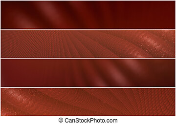 Red pattern - 4 divider