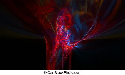 Red pattern abstract motion background