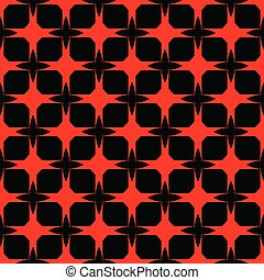 Red pattern on black background. Seamless pattern. Abstract .