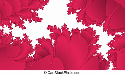 Red pattern on white abstract background