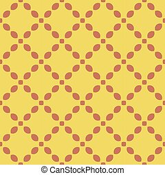 Red pattern on yellow seamless design background.
