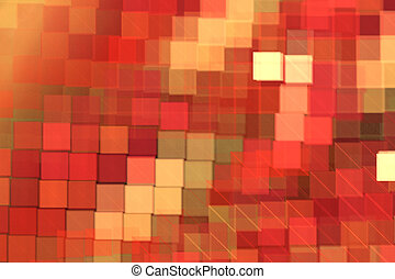 Red pattern square, abstract modern background with fractal shapes for web design, flyers or art