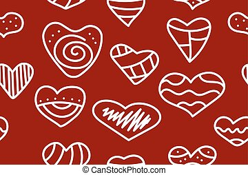 Red pattern with hearts