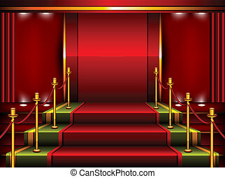 Red pedestal - Red carpet and pedestal for rewarding...