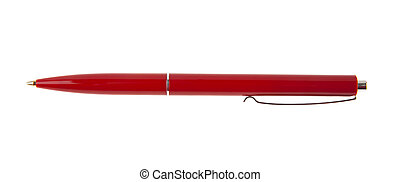 red pen isolated on white background