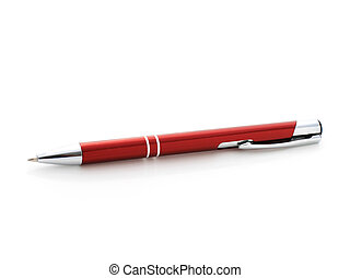 Red pen.