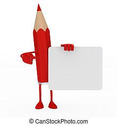 red pencil billboard