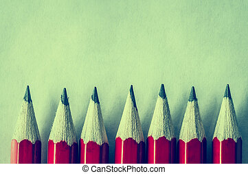 Red Pencil Border - Cross Processed - A row of roughly ...