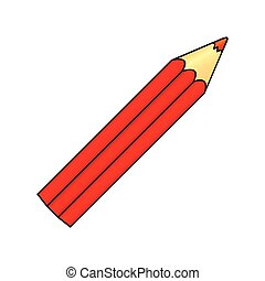 red pencil color icon