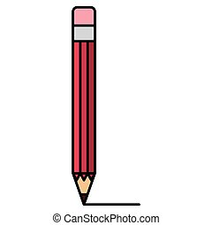 red pencil isolated icon