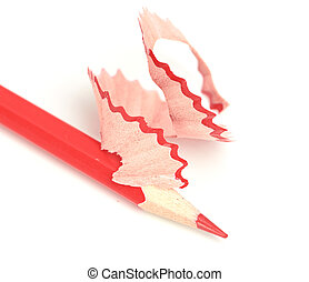 red pencil isolated on a white background