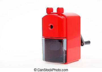 Red pencil sharpener