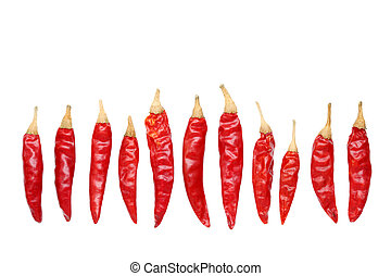 Red peppe - Red chili pepper isolated on white background
