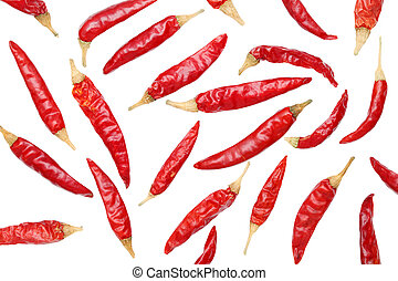 Red peppe - Red chili pepper on white background