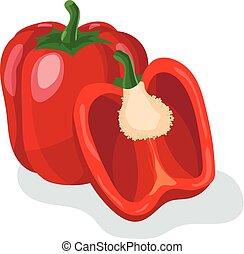 Red pepper cartoon vector illustration