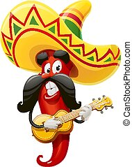 Red pepper. Character for Cinco de Mayo - Character for ...
